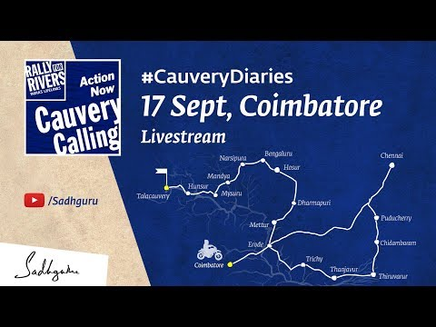 Cauvery Calling Live in Coimbatore - Sep 17 @ 6 PM