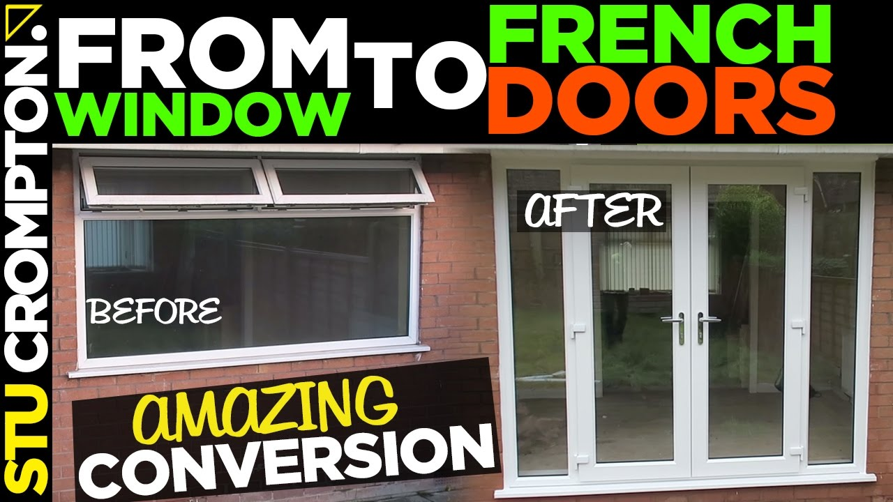 French door conversion how to remove window youtube french door conversion how to remove window rubansaba