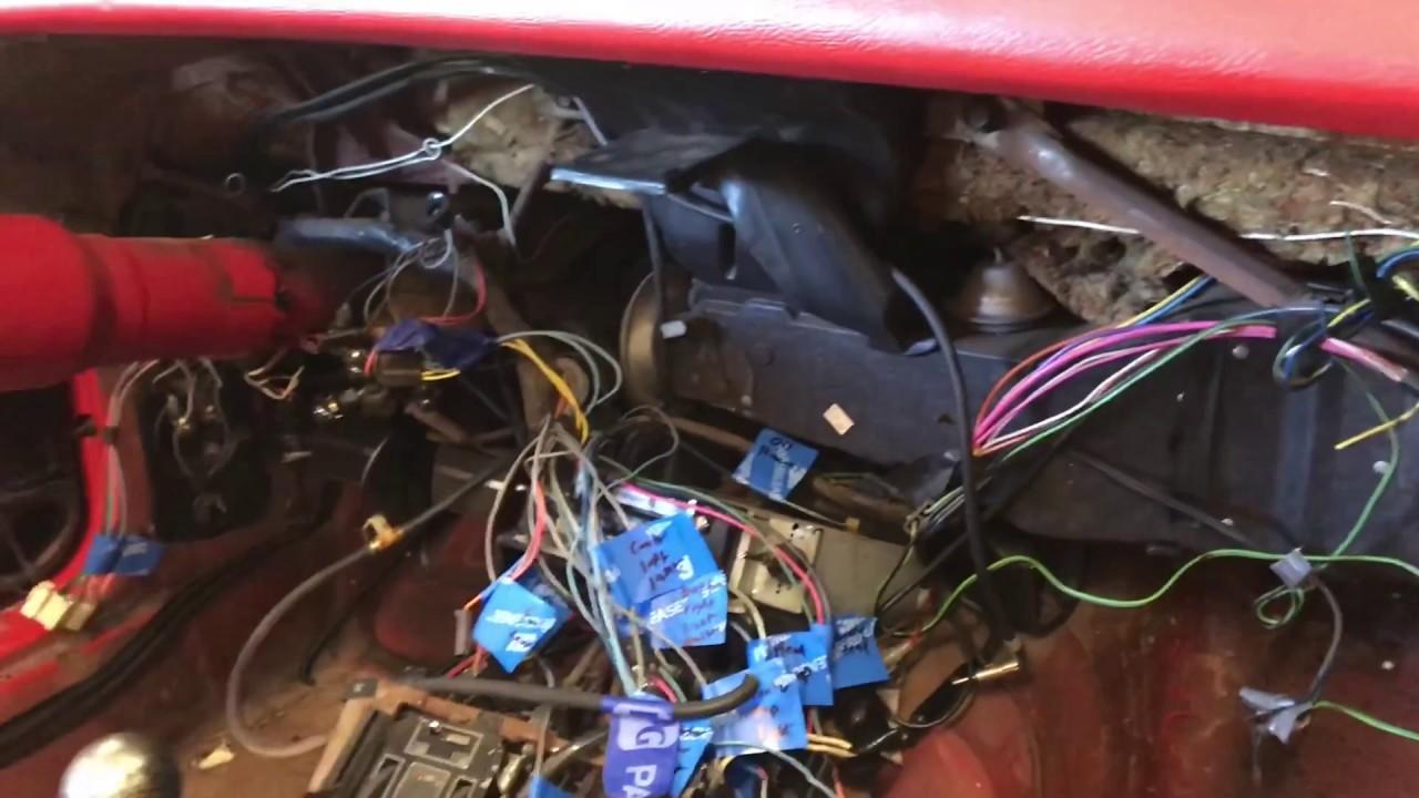 1969 Corvette Upper Dash Pad Removal
