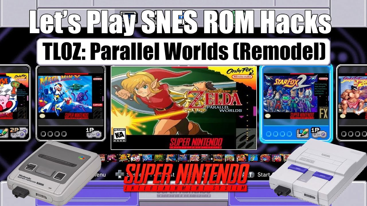Let's Play SNES ROM Hacks | TLOZ: Parallel Worlds | SNES Mini