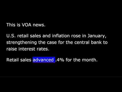 VOA news for Thursday, February 16th, 2017