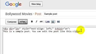 How to edit post in html in blogger