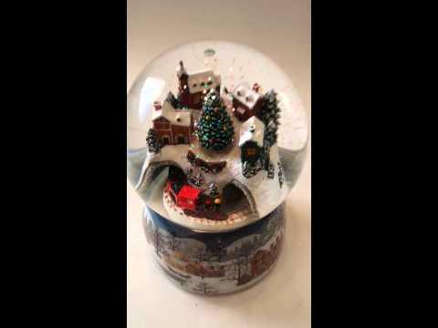 Roman Inc. Musical Christmas Train Scene Snow Globe