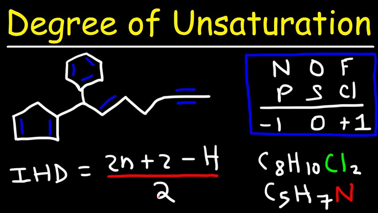 Degree Of Unsaturation And Index Of Hydrogen Deficiency Youtube