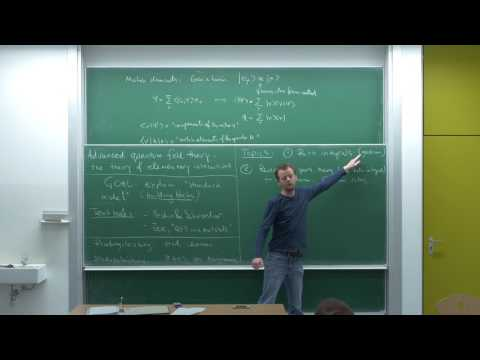 Advanced quantum field theory, Lecture 1