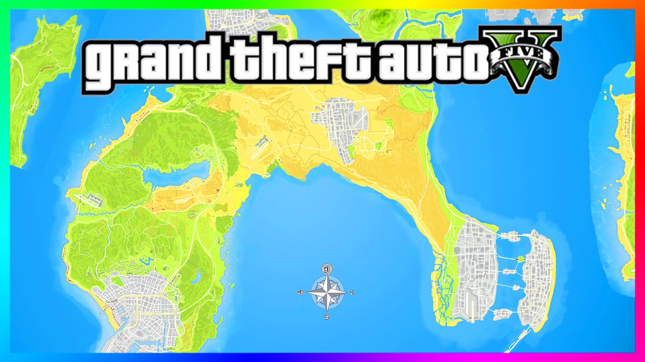 Amazing GTA 5/GTA 6 City Expansion Concept Map Featuring - Vice City ...