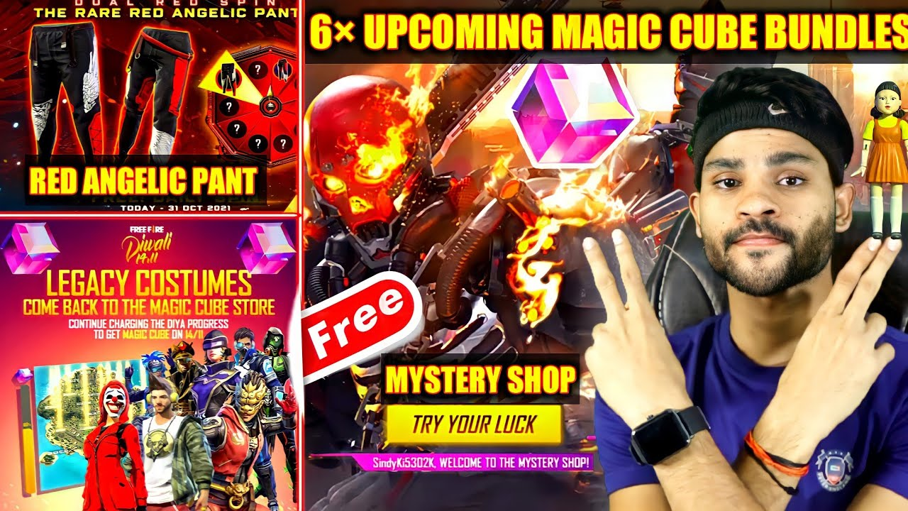 Download 6 UPCOMING MAGIC CUBE BUNDLES | MYSTERY SHOP DATE | RED ANGELIC PANT | FREE FIRE NEW EVENTS - FFNews