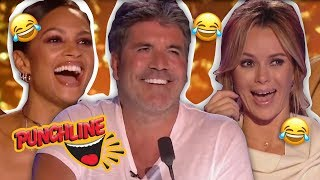 Funniest Comedian's GOLDEN BUZZER Auditions Britain's Got Talent & America's Got Talent