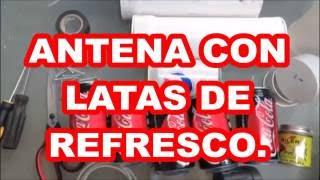 multi-antenna hdtv EXTRA POTENTE. Con latas de COCA-ZERO.capta canales de tv GRATIS.