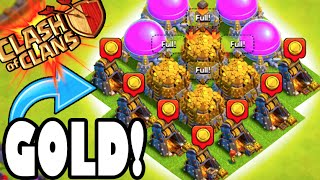 "Clash of Clans - GOLD PARTY! ""MAXED OUT LOOT UPGRADES!"" Farming Titan's League to Max Our Base!"