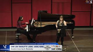 Chin Lok CHARLOTTE LEUNG plays Sonate D. Maslaska #adolphesax
