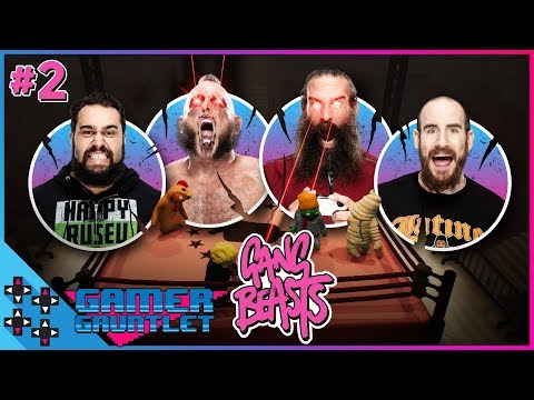 GANG BEASTS BATTLE ROYAL #2 - HARPER vs. RUSEV vs. ENGLISH vs. KONNOR - Gamer Gauntlet