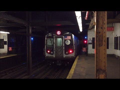 NYC Subway HD 60fps: Late Night Alstom R160A C Trains @ 155th Street (7/5/17)