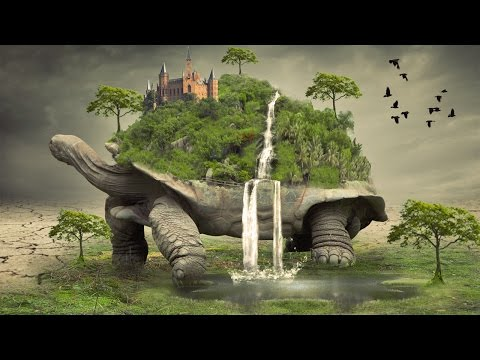 Big tortoise photo manipulation | photoshop tutorial cc