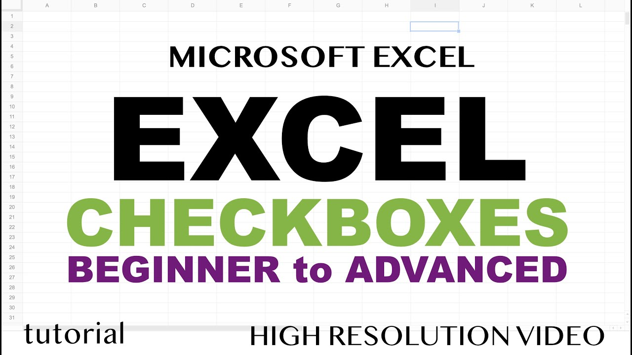 Excel Checkboxes - True, False Checkbox, List of Checkboxes Tutorial