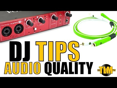 DJ tips:  how to improve the quality of your audio recording