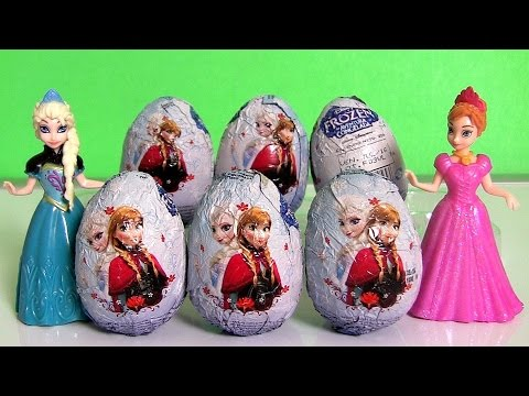 Disney Frozen Surprise Eggs ❤ NEW ❤ Frozen Una Aventura Congelada Huevos-Sorpresa