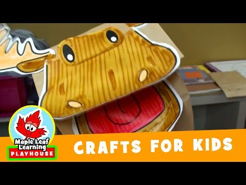 Marty Moose Puppet Craft for Kids | Maple Leaf Learning Playhouse