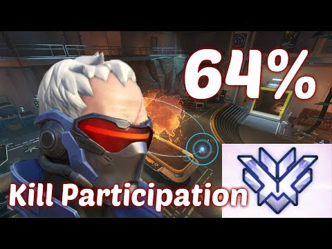 Top 500 Overwatch w/ Soldier 76 (64% Kill Participation) Featuring: Spree