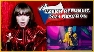 Czech Republic   Eurovision 2021 Reaction   Benny Cristo - Omaga - LIVE