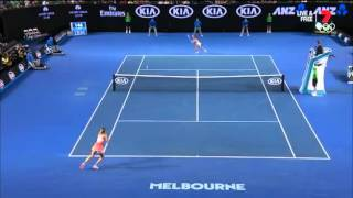 Federer reaction on Sharapova play | Реакция Федерера на игру Шараповой