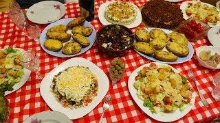 МЕНЮ на День Рождения! Готовлю 5 блюд. ПРАЗДНИЧНЫЙ СТОЛ: Торт, Салаты, Горячее.