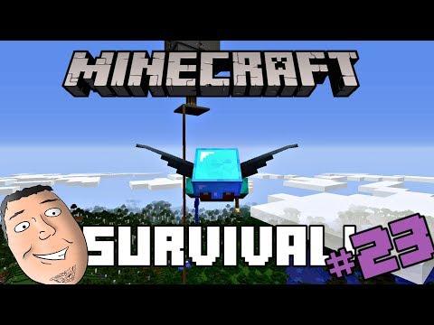 Minecraft Survival #23 | Mansion Sweep/Ender Dragon/Elytra!