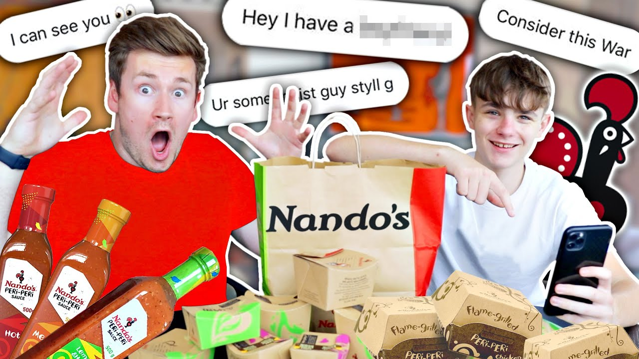 MY BROTHER EXPOSES MY INSTAGRAM DM'S + NANDOS MUKBANG