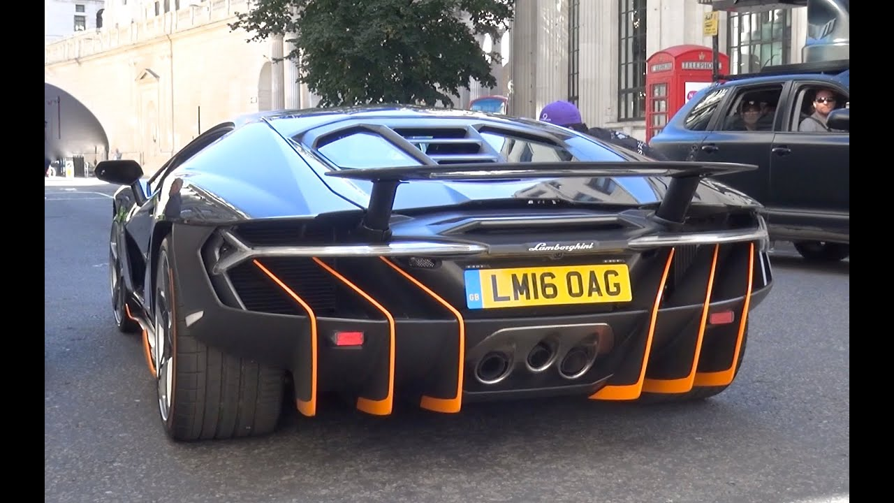 Lamborghini Centenario Driving In London Transformers 5 Movie Set