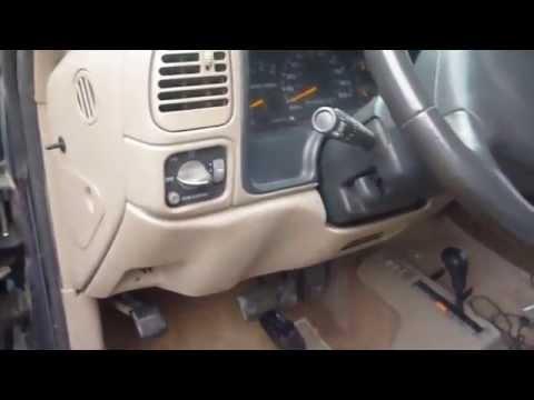 98 Gmc Dash Bezel & E Brake Lever Removal