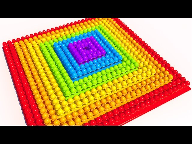 Learning Colors with Ice Cream 3D Square Pyramid