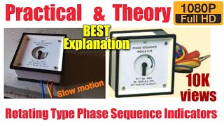three phase sequence test by phase sequence indicator