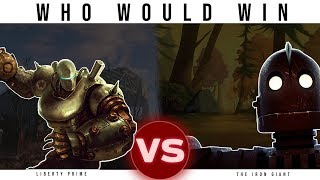 The Iron Giant Vs Liberty Prime (Fallout) | Who Would Win
