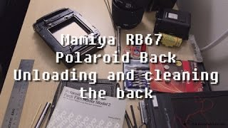 Mamiya RB 67 Polaroid Land Pack Film Holder (Removing used film pack & cleaning the rollers