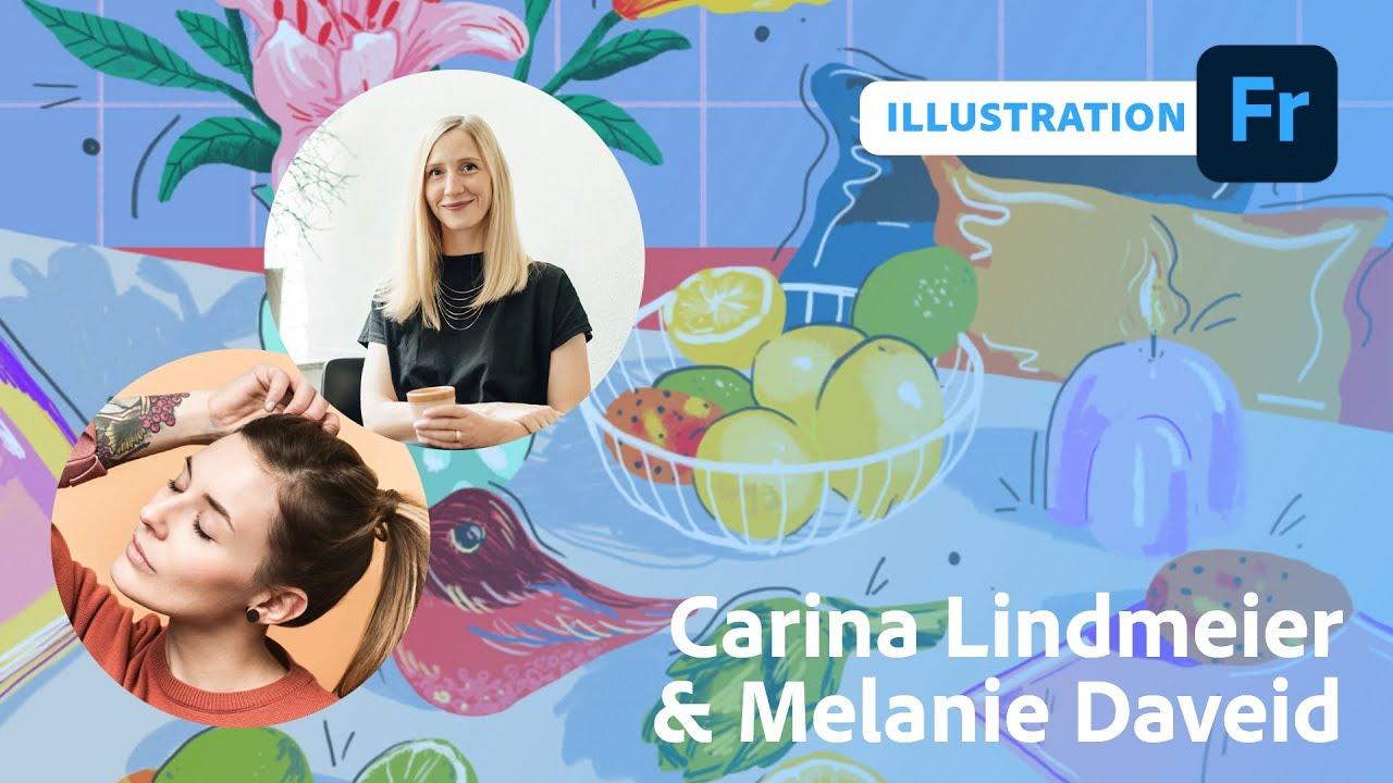 Illustration mit Carina Lindmeier und Melanie Daveid  Adobe Live