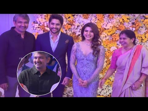 Director SS Rajamouli and Family @ ChaySam Wedding Reception | TFPC