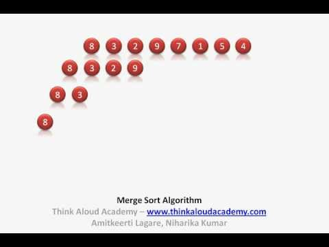 Merge Sort Algorithm : Divide and Conquer Technique : Think Aloud Academy