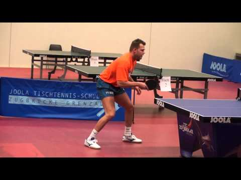 Table Tennis Practicing TTC Grenzau Tomas Pavelka