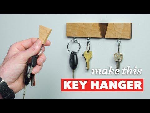 How To Make a Contemporary Key Holder