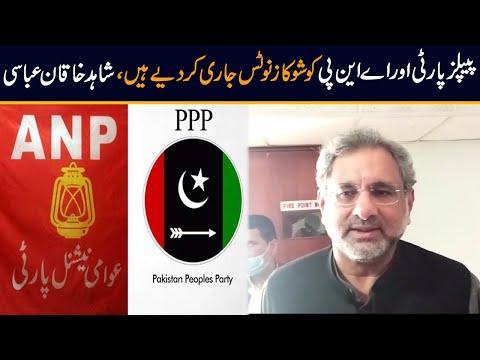 پی پی پی اور اے این پی کو شو کاز نوٹس جاری کر دیے ہیں: شاہد خاقان عباسی
