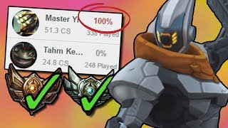 NEVER Losing a Game at Bronze or Silver - The 100% Win Rate Master Yi // League of Legends
