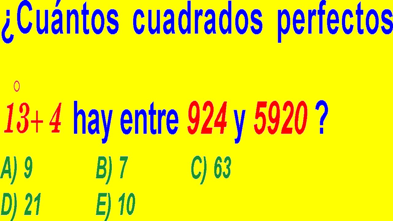 CUADRADOS PERFECTOS Y DIVISIBILIDAD - PROBLEMA RESUELTO DE EXAMEN DE ...