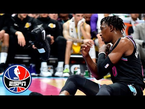 Josh Richardson throws shoe, gets ejected in Lakers vs. Heat | NBA Highlights