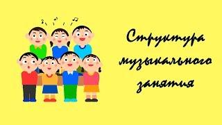 Классическая структура музыкального занятия в детском саду