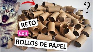 3 Manualidades FÁCILES y CREATIVAS con rollos de papel higiénico (RETO MAKE MY CRAFT CHALLENGE)