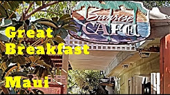 Sunrise Cafe Lahaina Maui. Good Breakfast & Good Value!  Family Place