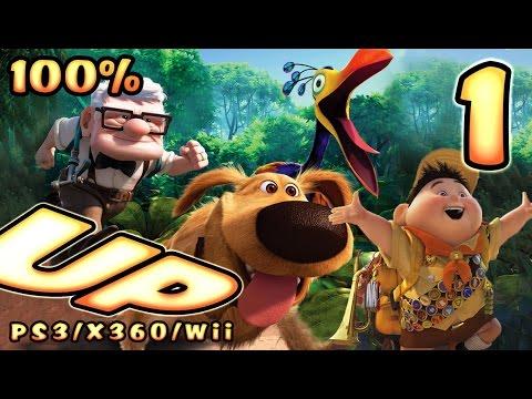 Disney Pixar's UP Walkthrough Part 1 (PS3, X360, Wii) 100% Level 1 & 2 - To Paradise Falls