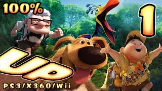Disney Pixar's UP Walkthrough Part 1 (PS3, X360, Wii) 100% Level 1 & 2 - To Paradise Falls