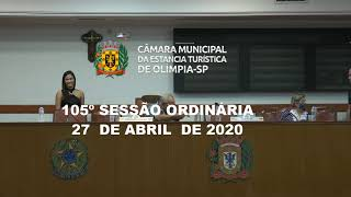 105ª Sessão Ordinária - 27 de abril de 2020