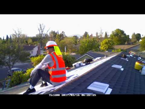 Time Lapse Northridge Re Roof (Cool Roof) Project GAF HD Timberline Charcoal